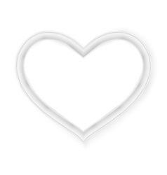Heart picture frame isolated on white EPS 10 vector