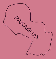High resolution paraguay map with country flag vector
