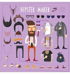Hipster master creative constructor set vector
