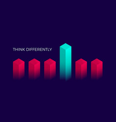 isometric think differently design geometric vector image