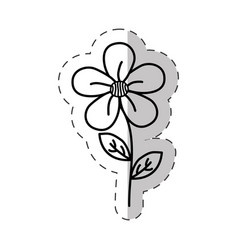 jasmine flower decoration cut line vector image