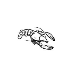 lobster hand drawn sketch icon vector image