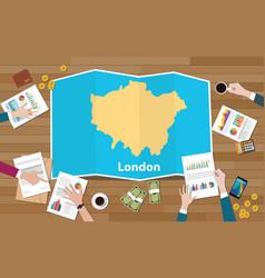 London england capital united kingdom city region vector