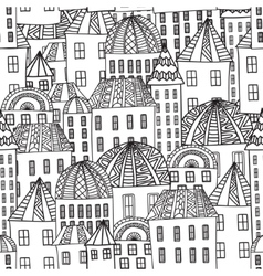 Magic CityColorieng book for adults vector