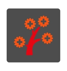 Medical Technology Tree Flat Button vector