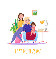 mother day flat composition vector image