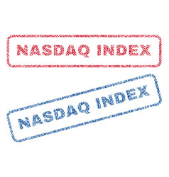 Nasdaq index textile stamps vector