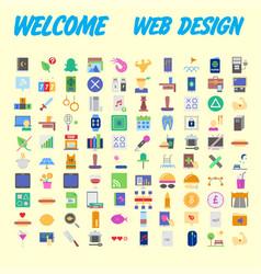 orange background 100 universal icon set for web vector image