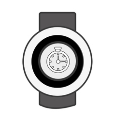 Orbed watch with media icon on the screen vector