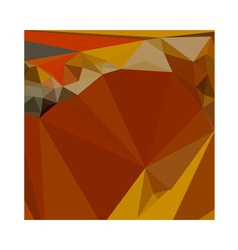 Paprika Orange Red Abstract Low Polygon Background vector