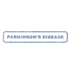 parkinson s disease textile stamp vector image