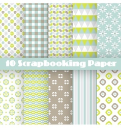 Pattern papers for scrapbook vector image