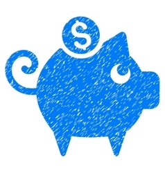 Piggy Bank Grainy Texture Icon vector