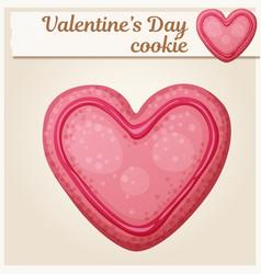 Pink valentine day cookie vector