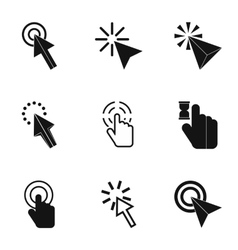 Pointer icons set simple style vector
