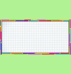 Rectangle border frame made of multicolor wooden vector