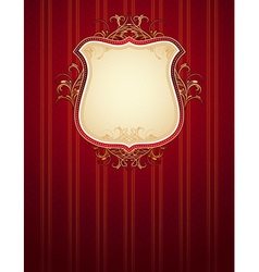Red classical background vector