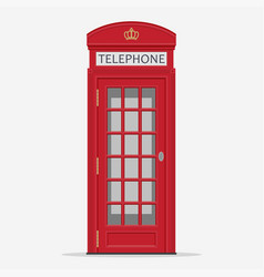 red london street phone booth vector image