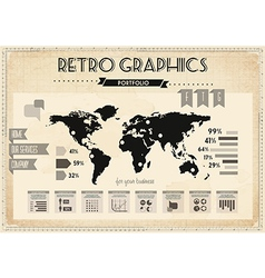 Retro vintage set of infographic elements vector