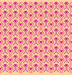 seamless pattern love pink background vector image