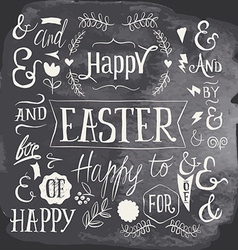 set labels for easter holiday vector image
