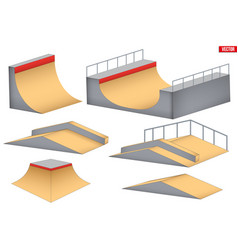 Skatepark elements isolated vector