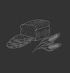 Sliced bread vector