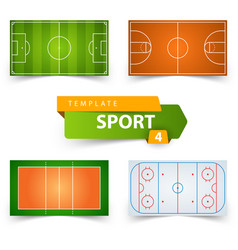 soccer football basketball volleyball hockey vector image