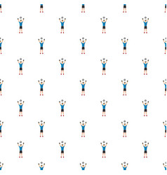 Soccer player man pattern vector