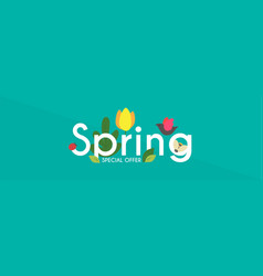 spring is comming seasob label with hand drawn vector image