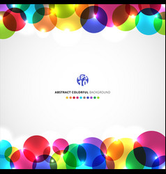 template abstract header colorful circles vector image