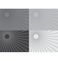 The grey rays of the sun Eps 10 vector image