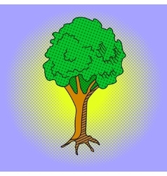 Tree Pop art vector image