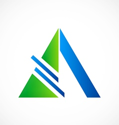 Triangle construction abstract logo vector