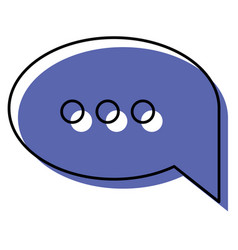 Watercolor silhouette of speech bubble with vector