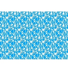 White neural network on blue abstract background vector