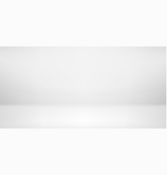 Wide clear empty room template for content vector
