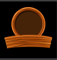 wooden board and round frame for graphic design vector image