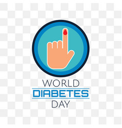 world diabetes day isolated on transparent vector image
