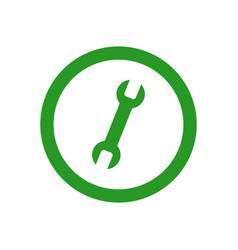 Wrench icon vector