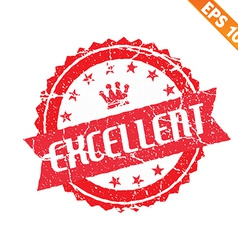 Excellent rubber stamp - - EPS10 vector image