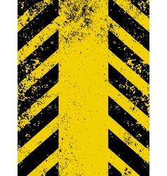 Hazard stripes in Grunge style EPS 8 vector image vector image