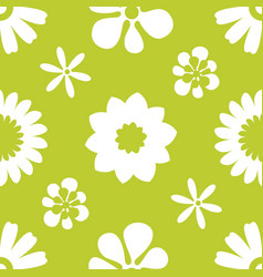 seamless floral pattern repeated flowers and vector image vector image