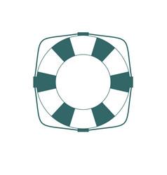 simple lifebuoy icon or life preserver vector image
