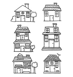 art of house and building vector image