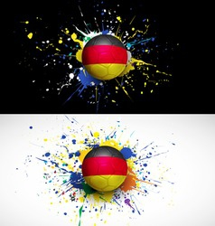 Germany flag with soccer ball dash on colorful vector image