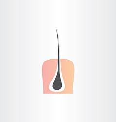 hair root strand and skin symbol vector image