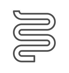 heated towel line icon vector image