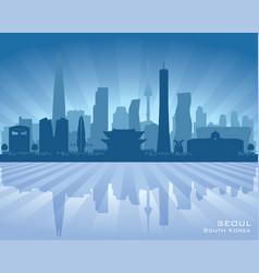 seoul south korea city skyline silhouette vector image vector image