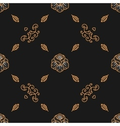 Trendy seamless pattern minimal floral ornament vector image vector image